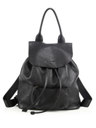 Elizabeth And James Langley Leather Drawstring Backpack Black
