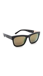 3.1 Phillip Lim Square Mirrored Sunglasses Black Multichrome Yellow