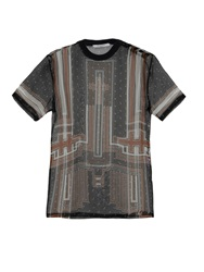 Givenchy Crosses Print Silk Chiffon Top