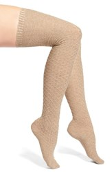 Women's Vince Camuto Textured Over The Knee Socks Beige Camel