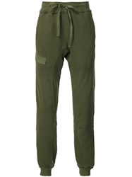 R 13 R13 Patched Track Pants Green