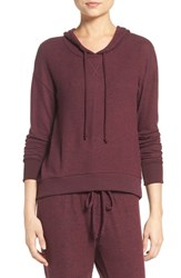 Make Model Women's Pullover Hoodie Burgundy Stem Marl
