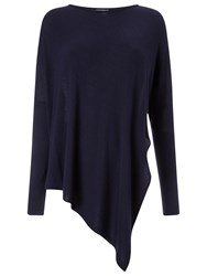 Phase Eight Reine Asymmetric Knit Top Navy