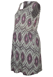 Mama Licious Minetta Summer Dress Gray Mist Grey