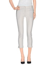 Atos Lombardini Trousers 3 4 Length Trousers Women White