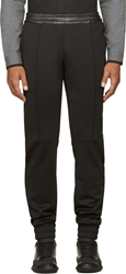 Pyer Moss Black Leather Trim Jabber Lounge Pants