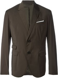 Neil Barrett Two Button Blazer Green