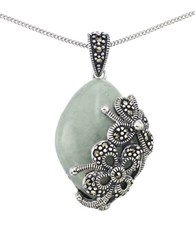 Lord And Taylor Jade Teardrop Pendant Necklace