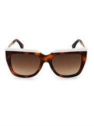Fendi Square Framed Tortoiseshell Sunglasses