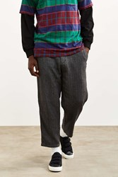 Urban Outfitters Uo Herringbone Relaxed Cropped Chino Pant Grey Multi
