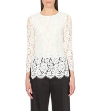 Whistles Lace Tunic Top Cream