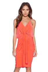 T Bags Losangeles Tie Front Dress Orange
