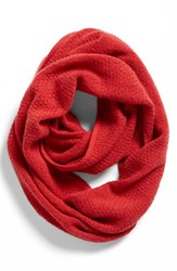 Women's Halogen Pointelle Knit Wool And Cashmere Infinity Scarf Red Red Beauty