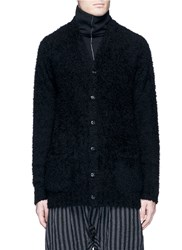 Attachment Wool Boucle Cardigan Black