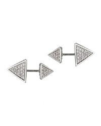 Eddie Borgo Front Back Pave Pyramid Stud Earrings