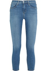 L'agence Margot Cropped High Rise Skinny Jeans Light Denim