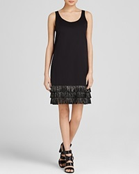 Dkny Fringe Tank Dress Black