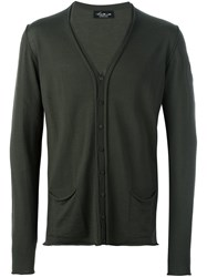 Isabel Benenato V Neck Cardigan Green