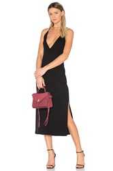 Lanston Slit Cami Midi Dress Black