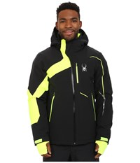 Spyder Rival Jacket Black Bryte Yellow Theory Green Men's Coat