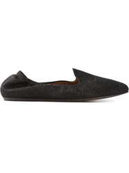 Lanvin Glitter Slippers Black