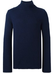 Roberto Collina Turtle Neck Sweater Blue