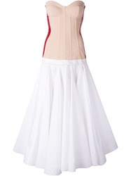 Natasha Zinko Bustier Dress White