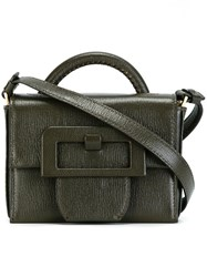 Maison Martin Margiela Small Buckle Detail Satchel Bag Green