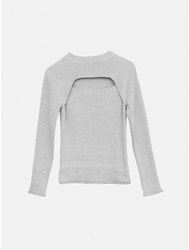 A.Ok L S Front Cut Out Sweater Oak