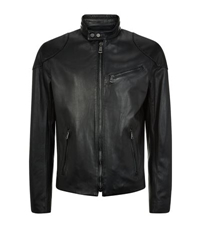 Ralph Lauren Black Label Cafe Leather Biker Jacket