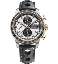 Chopard Grand Prix De Monaco Historique 18Ct Rose Gold Titanium And Leather Chronograph Watch