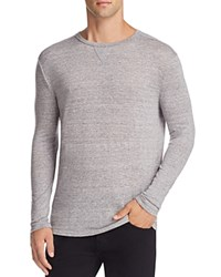 Rails Ryan Heathered Linen Long Sleeve Tee Heather Grey