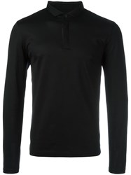 Hugo Boss Longsleeved Polo Shirt Black