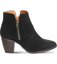 Office Justine Suede Ankle Boots Black Suede