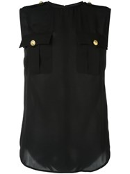 Dsquared2 Sleeveless Military Blouse Black