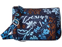 Vera Bradley Little Hipster Java Floral Cross Body Handbags Black