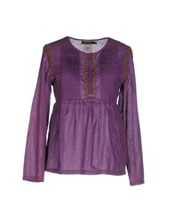 Antik Batik Shirts Blouses Women Purple