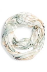 Junior Women's David And Young 'Floral Grid' Infinity Scarf
