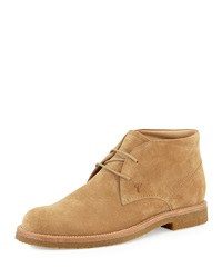 Suede Chelsea Boot Camel Tod's