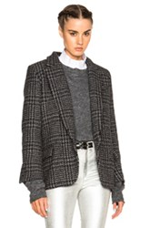 Etoile Isabel Marant Garron Perdessus Jacket In Gray Checkered And Plaid Gray Checkered And Plaid