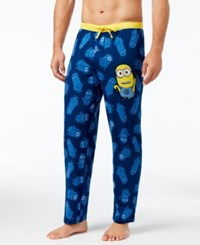Briefly Stated Men's Minions Pajama Pants Blue
