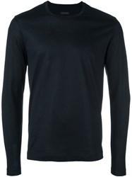 Z Zegna Slim Fit Sweatshirt Blue