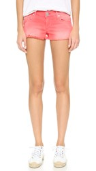 True Religion Overdyed Color Cutoff Shorts Shocking Pink
