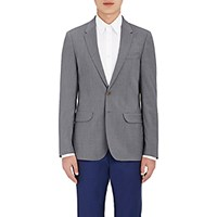 Paul Smith Ps By Men's Contrast Lining Two Button Sportcoat Light Grey