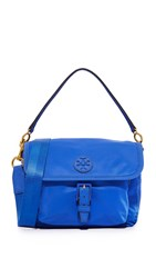 Tory Burch Scout Nylon Cross Body Bag Jewel Blue