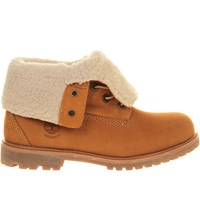Timberland Teddy Fleece Leather Boots Wheat