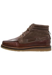 Boss Orange Tuned Laceup Boots Rust Cooper Brown
