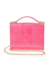 Brian Atwood Aston Watersnake Crossbody Bag Pink