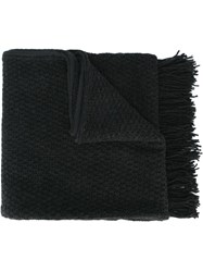 Golden Goose Deluxe Brand Fringed Scarf Grey