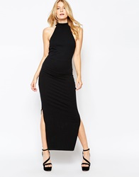 Motel Cally Halterneck Maxi Dress Black